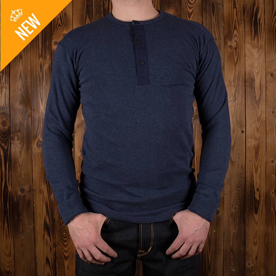 1954 Utility Shirt Long Sleeve indigo melange